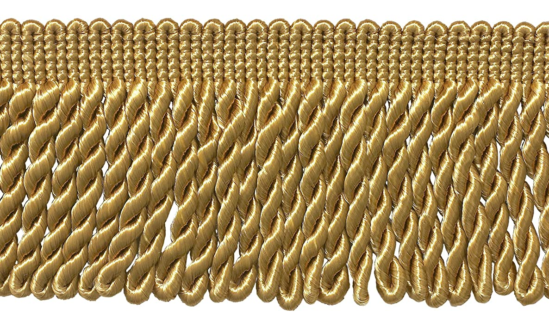 DecoPro 7 Yard Pack - 3 Inch Long Gold Bullion Fringe Trim, Style# BFS3 Color: C4 (21 Ft / 6.4M)
