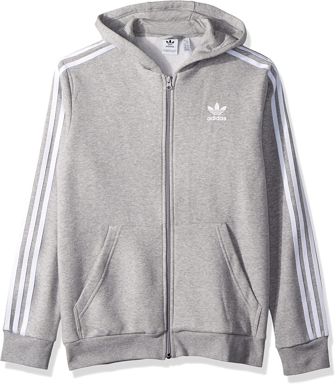 Adidas Originals Kids Mens 3 Stripe Trefoil Hoodie Little Kids Big Kids Amazon Co Uk Clothing [ 1500 x 1309 Pixel ]