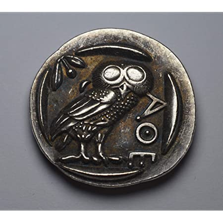 Owl of Athens Gold Drachm Ancient Greek Gold Drachm Coin Reproduction Greek Coin Gold Plated Replica