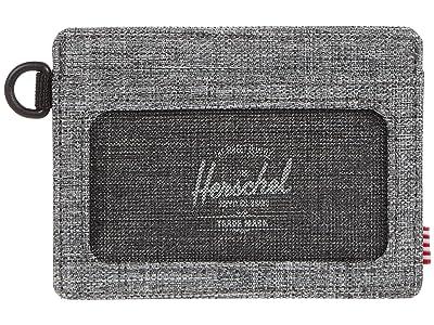 Herschel Supply Co. Charlie ID RFID (Raven Crosshatch) Wallet Handbags