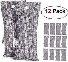 NEWBEA-1 12 Pack Charcoal Air Purifying Bag, Travel Size Shoe Deodorizer, Air Freshener, Odor Eliminator, Odor Absorber for Shoes, Home, Closet, Car (Renewed)