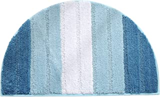 Xuanmuque Bathroom Rugs Mat, 20 x 32 Inch Semi Circle Bath Mats for Bathroom, Soft Microfiber Non Slip Washable Bath Rugs ...