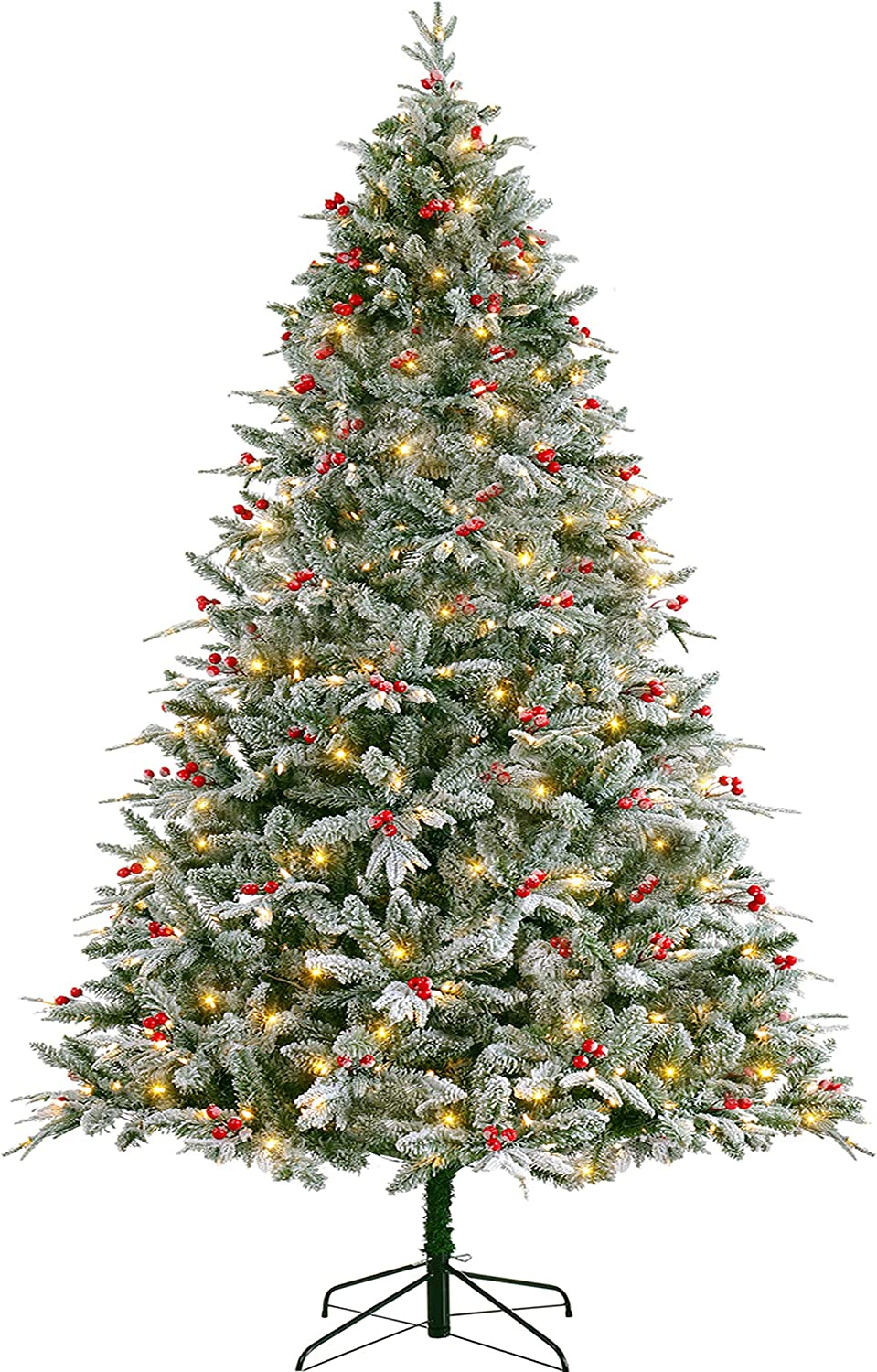 New Shipping Free Shipping San Francisco Mall LordofXMAS Flocked Christmas Tree Pre-lit 9 Lights P with LED ft