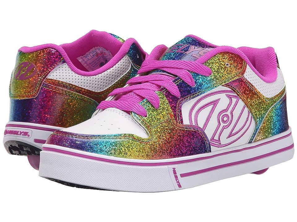 Heelys Motion Plus (Little Kid/Big Kid/Adult) (White/Rainbow/Hot Pink) Kid