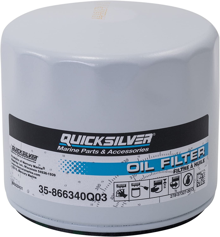 QUICKSILVER 35-858004Q HIGH PERFORMANCE OIL FILTER MERCRUISER 3.0L 3.0LX 4-Cyl