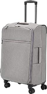 AmazonBasics Belltown, Softside Expandable Luggage Spinner Suitcase with Wheels