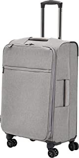 AmazonBasics Belltown Softside Rolling Spinner Suitcase Luggage - 25 Inch, Heather Grey