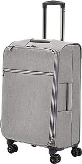 AmazonBasics Heathered Belltown Softside Luggage Spinner Suitcase