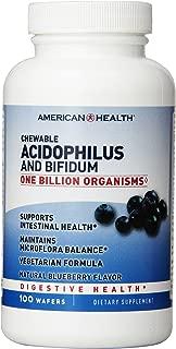 American Health Chewable Probiotics, Acidophilus-Blueberry with Acidophilus and Bifidus, 100 Count