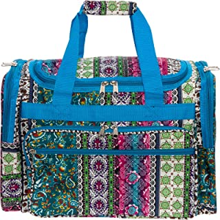 Womens Printed Duffel Bag (Chevron)