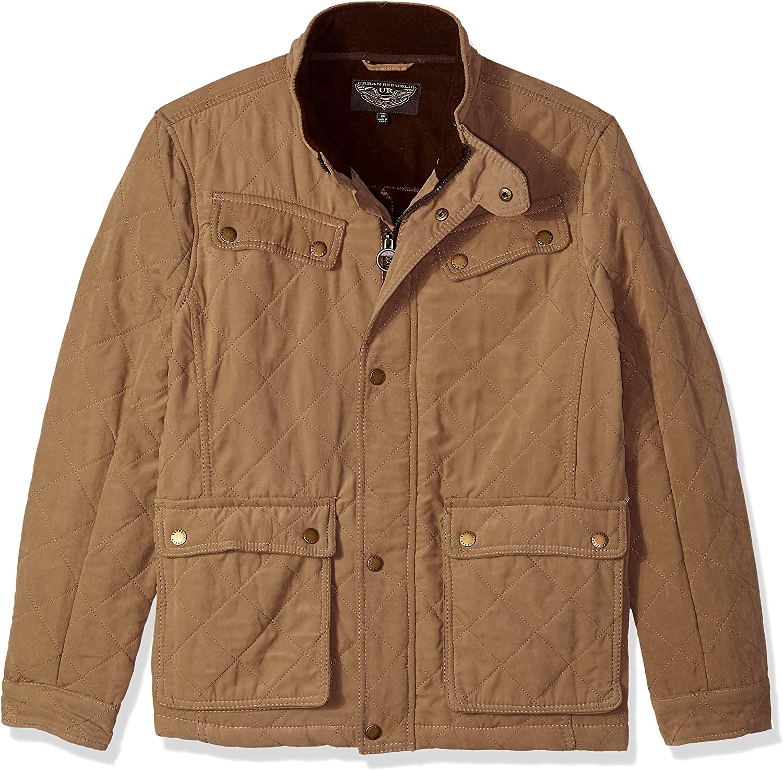 URBAN REPUBLIC Mens Microfiber/Quilted Fleece Jackets