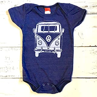 VW Bus baby onesie. VW Van baby one piece. VW baby body suit.