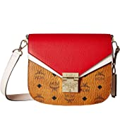 MCM - Patricia Visetos Leather Block Shoulder Small