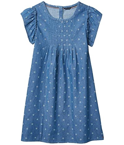 Tommy Hilfiger Kids Star Chambray Dress (Big Kids) (Blue) Girl