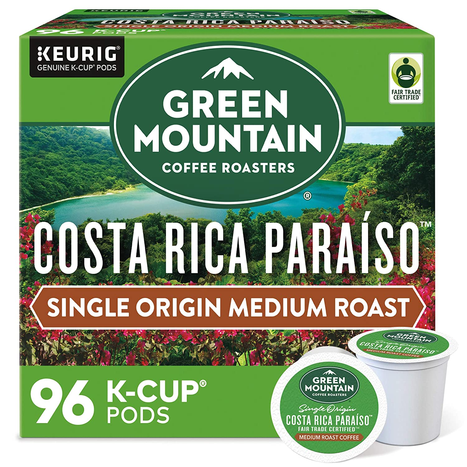 Green Limited price sale Mountain Coffee Roasters Single-Serve Paraiso Costa Brand new Rica