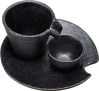 エールネット(Ale-net) 銀黒しずる冷酒器 盃 受皿 セット