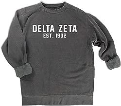 Delta Zeta est. 1902 Sweatshirt Sorority Comfort Colors Sweatshirt