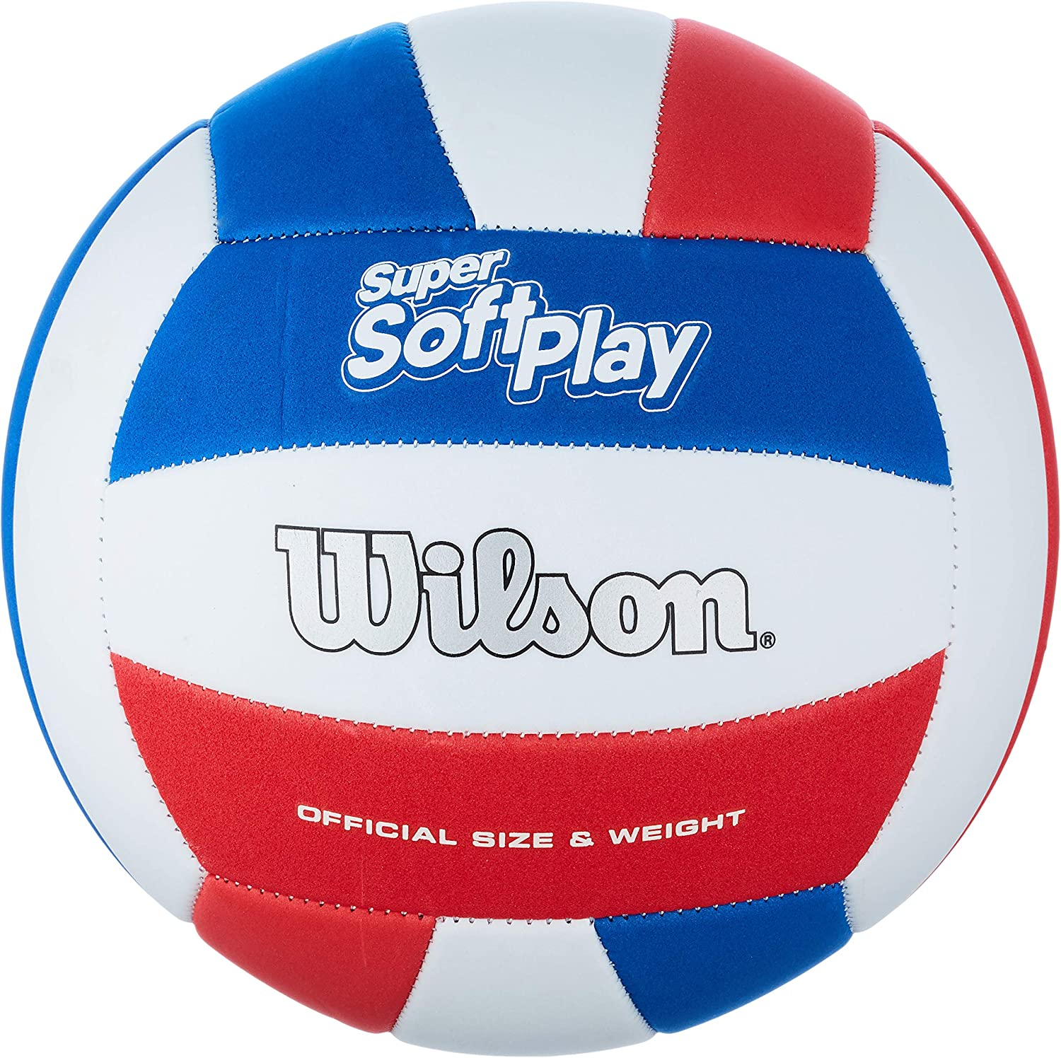 Very popular Wilson Super Soft Play Volleyball - Red Mail order White Blue