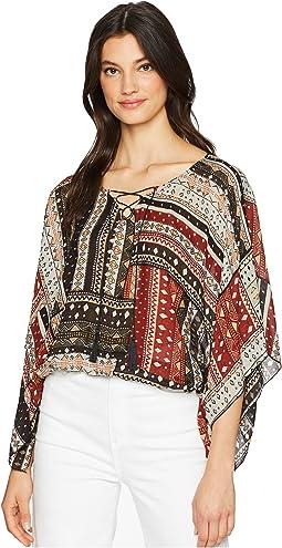 Kimono Sleeve Poncho Top