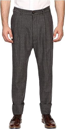 Herringbone Stripe James Bond Trousers