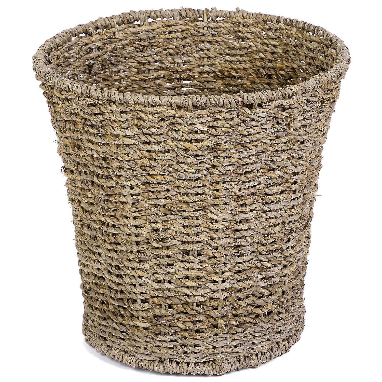 Round Wicker Waste Paper Bin Fashionable and Basket- Basket Bedr Rubbish Import for