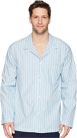 Woven Stripe PJ Top