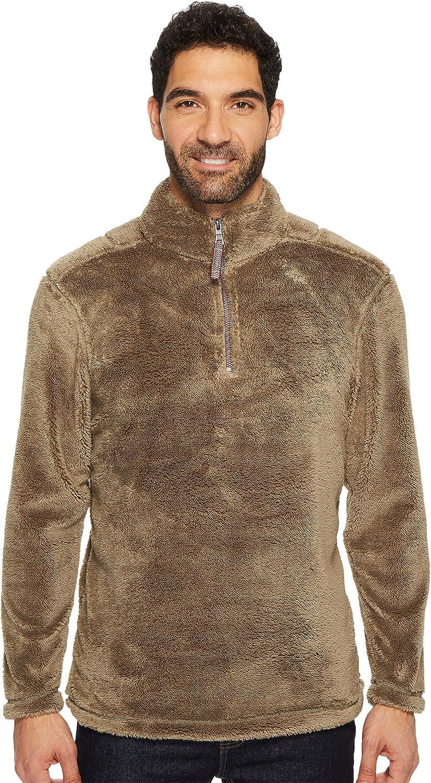 True Grit Men's Pebble Pile 1/4 Zip Pullover, Gravel, X-Small