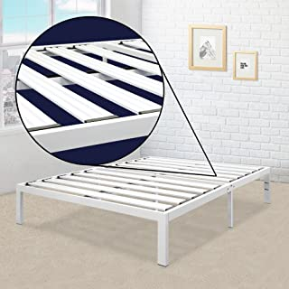 queen platform bed frame white