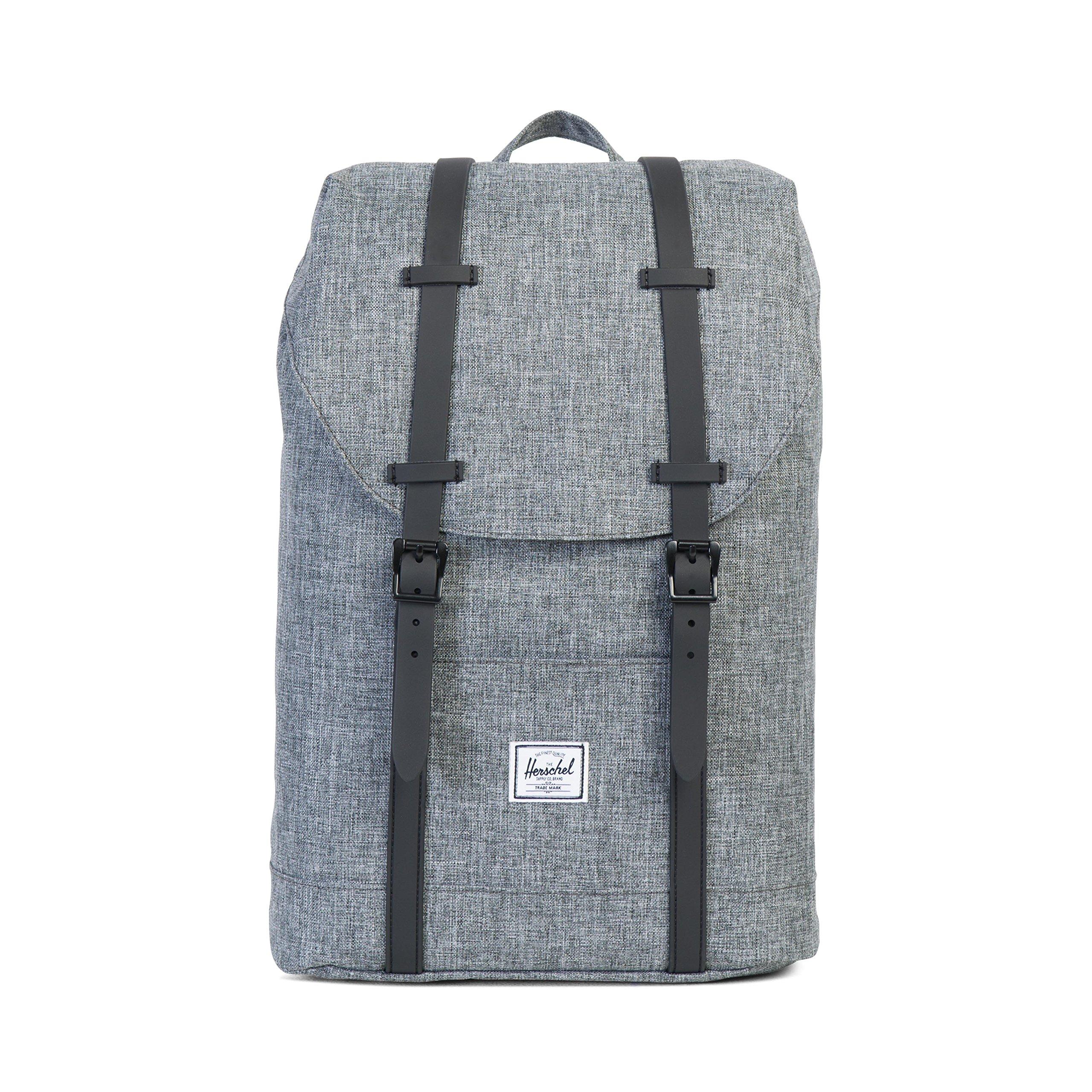 Herschel Retreat Backpack Raven Crosshatch Rubber