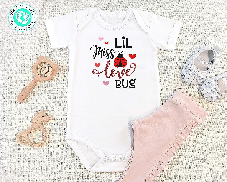 Valentine's price Day Onesie Lil Miss Love Discount is also underway Girl On Bug Baby