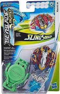 Beyblade Burst Turbo Slingshock Xcalius X4 Starter Pack -- Battling Top & Right/Left-Spin Launcher, Age 8+