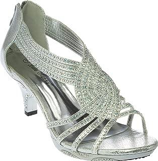 premium13 Womens Evening Sandal Rhinestone Dress-Shoes