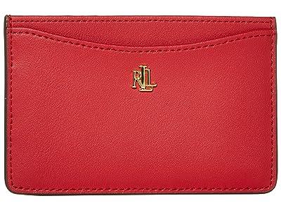 LAUREN Ralph Lauren Slim Card Case (Red) Wallet Handbags