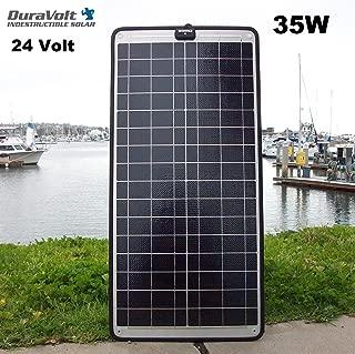 DuraVolt Trolling Motor Charger - 24 Volt solar charger - 35.0 Watt 24V 1A - Plug & Play - for Boats