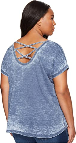 Plus Size Double Cross Back Tee