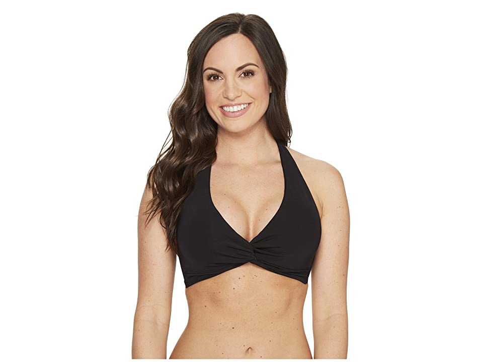 JETS SWIMWEAR AUSTRALIA Jetset D/DD Cup Twist Front Halter Top (Black) Women