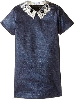 Little Marc Jacobs - Glittered Dress Fancy Cabochons Removable Collar (Toddler/Little Kids)