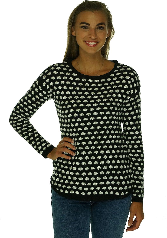 Maison Jules Women's Polka Dot Crew-Neck Pullover Sweater