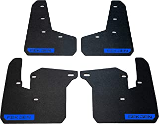 REK GEN Mud Flaps 2015+ Compatible with Subaru WRX/STI - Mounting Hardware & Instructions Included (Royal Blue Logo)
