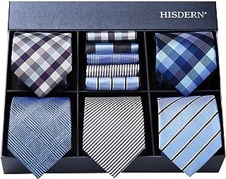 8f32e21383ab0 Hisdern Lot 5 PCS Classique elegant formel La soie des hommes Cravate Set  Cravate & Carre