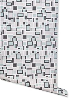 Neo, White/Pink/Black/Turquoise Mid Century Wallpaper for Walls - Double Roll - Romosa Wallcoverings AH7025