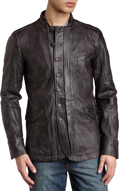 Diesel Men's Letrid Leather Jacket