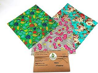 Envolturas de cera de abejas, juego de 3 GRANDES, colores aleatorios, BEE Zero Waste, UK HANDMADE, alternativa natural a l...