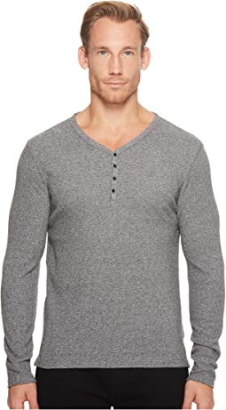 Calvin Klein Jeans - Waffle Y-Neck Henley Shirt
