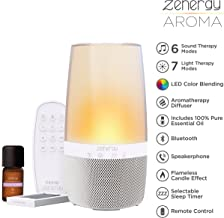 iHome Zenergy Aromatherapy Diffuser Bluetooth Speaker Sound Machine Open Your Senses, Light Therapy, Sound Therapy, Color Changing, Relax to Zen Therapy Soothing Sounds & Aroma Therapy Oils !