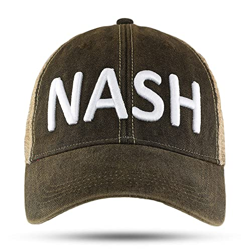 52c14e7b29ebe NASH Nashville Tennessee Trucker Hat Baseball Cap Black Great Gift