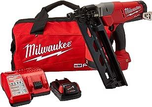 Milwaukee Elec Tool 2742-21CT M18 Fuel Lithiumion Brushless Cordless 16Gauge Angled F Inish Nailer Kit 247221Ct