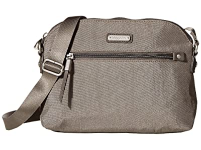 Baggallini New Classic Dome Crossbody (Sterling Shimmer) Handbags