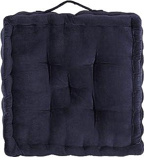 Blue Floor Cushion | Velvet Floor Cushion | Square Floor Cushion with Handle | Floor Seat Cushion | Bench Chair Cushion | ...