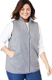 Women's Plus Size Zip-Front Microfleece Vest